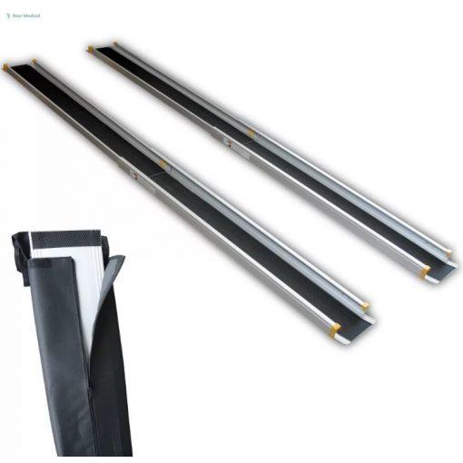 Kerekesszék rámpa, alumínium, teleszkópos, 183 cm hosszú