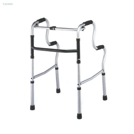 Felállást segítő, állítható, összecsukható járókeret, eloxált
