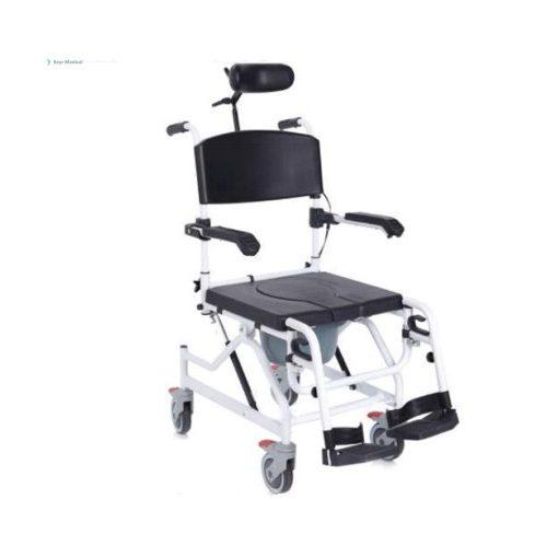 """Tusolószék - szoba wc dönthető ülőfelülettel 5"""" kerékkel"""