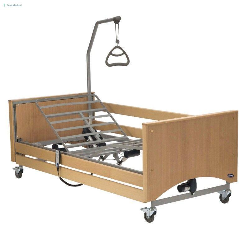Elektromos ágy, Invacare MEDLEY Ergo 4 részes, fa oldalráccsal